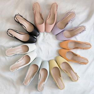 カラーバリエーション豊富どんな場面でも履きやすいスリンバックシューズ Arzu Rectangle