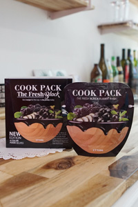 [COOK PACK The Fresh Black]韓国で大人気!日本未発売フード成分配合モデリングパック!水分/鎮静 1個販売