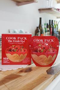 [COOK PACK The Fresh Red] 1BOX 5個入り!韓国で大人気日本未発売フード成分配合塗るタイプのパック!