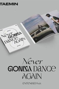 [ポスター選択]2CD テミン TAEMIN NEVER GONNA DANCE AGAIN 3集正規 EXTENDED/K-POP/SHINee/CD